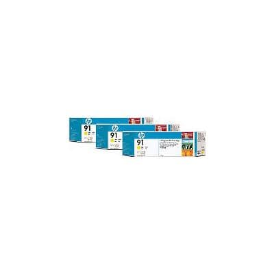 HP 91 Original Ink Cartridge C9485A Yellow 3 Pieces