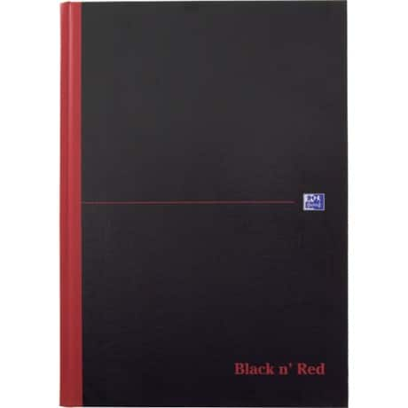 OXFORD Black n' Red Casebound Notebook Ruled A4