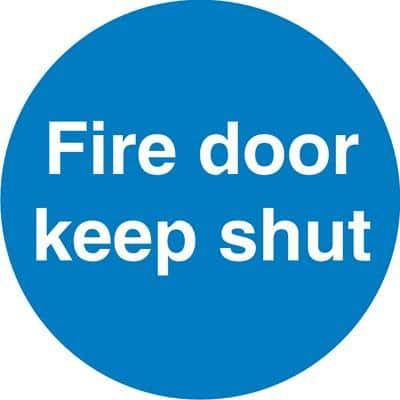 Office Sign Keep Shut PVC 6 x 6 cm