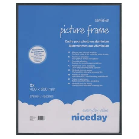 Niceday Aluminium Frame Black 500 H x 400 W mm 2 Per Pack