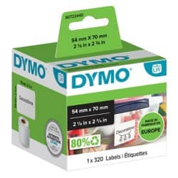 DYMO Multi Purpose Labels 99015 54 x 70 mm White