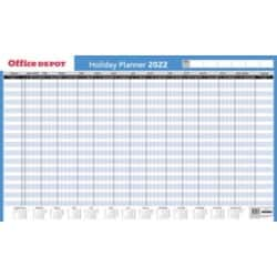 Office Depot Holiday planner Unmounted 2019 White, Blue