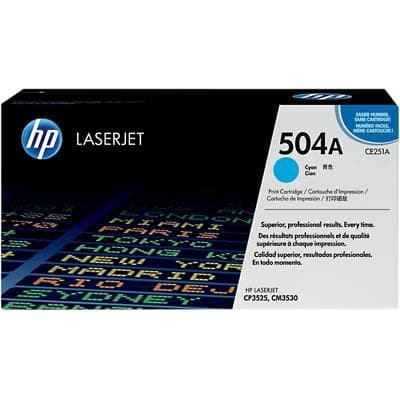 HP 504A Original Toner Cartridge CE251A Cyan