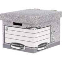 Fellowes Bankers Box System FastFold Storage Box Grey 292(h) x 335(w) x 404(d) mm Pack of 10