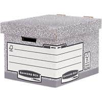 BANKERS BOX System FastFold Storage Box Grey Pack of 10