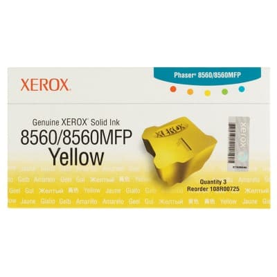 Xerox 108R00725 Original Solid Ink Stick Yellow 3 Pieces