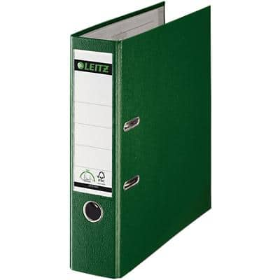 Leitz 180° Lever Arch File 80 mm Polypropylene 2 ring A4 Green