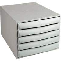Exacompta 5 Drawer filing unit Multiform Polypropylene, Polystyrene Grey 28.4 x 38.7 x 21.8 cm