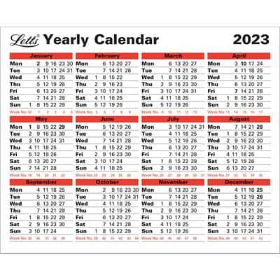 Letts Yearly Calendar 5-TYC 2021