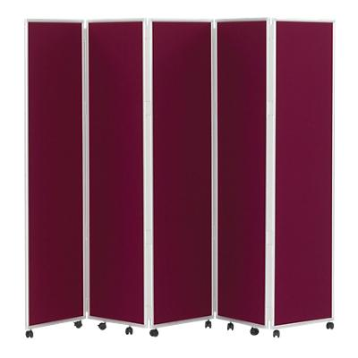 Concertina Display System/Room Divider - Wine 5 Screen 180 cm