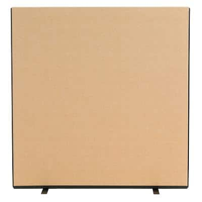 Freestanding Screen Fabric Wrapped 1500 x 1500 mm Brown