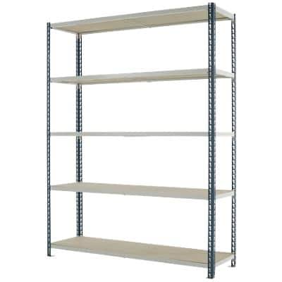 Kwik-Rak Steel Shelving - Grey 1980 H x 1500 W x 450 D mm