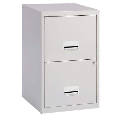 Pierre Henry Filing Cabinet with 2 Lockable Drawers Maxi 400 x 400 x 660mm Grey