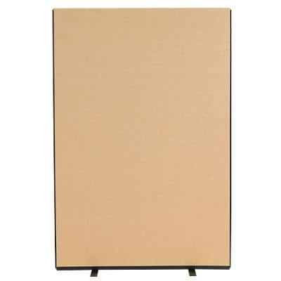 Freestanding Screen Fabric Wrapped 1200 x 1800 mm Brown