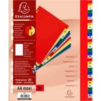 Exacompta Numerical Divider A4+ Assorted 31 tabs perforated pp 1 to 31