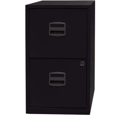 Bisley Filing Cabinet with 2 Lockable Drawers PFA2 410 x 400 x 670mm Black