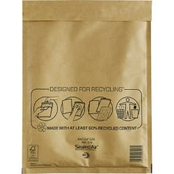 Mail Lite Mailing Bags g/4 79gsm Gold plain peel and seal 50 pieces