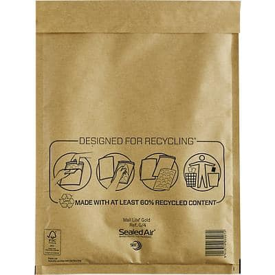 Mail Lite Mailing Bags G/4 79gsm Gold Plain Peel and Seal 250 x 340 mm 50 Pieces