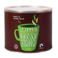 Clipper Medium Roast Decaff Organic Instant Coffee Tin Freeze Dried 500g