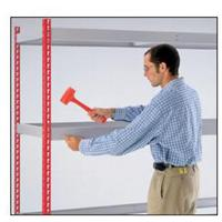 Kwik Rak Shelf Silver, Red 450 x 1,500 mm