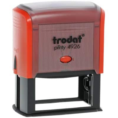 Trodat Custom Text Stamp Printy N4926 Black, Red 72 x 35 mm