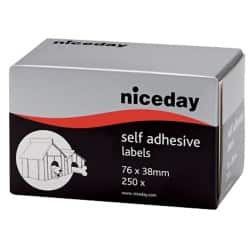 Niceday Address Labels White 38 x 76 mm 250 labels per pack