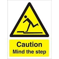 Sign Caution Mind Mind The Step PVC 15 x 20 cm