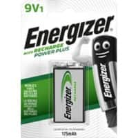 Energizer 9V Rechargeable Batteries Power Plus 6HR61 175mAh NiMH