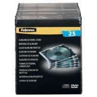Fellowes Single Capacity Slimline CD Jewel Cases - 25Pk