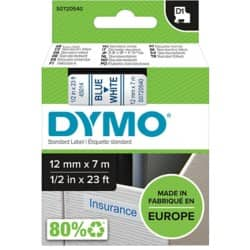 DYMO Labelling Tape 45014 12 mm x 7 m blue / white