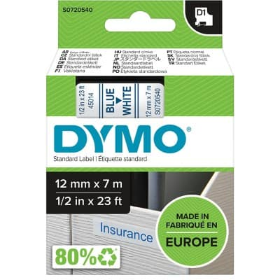 DYMO Labelling Tape 45014 7 m Blue , White
