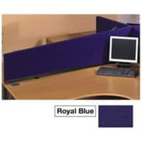Desk Screen Fabric Wrapped 390 x 300 x 1124 mm Blue