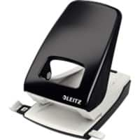 Leitz NeXXt Metal 2 Hole Punch 5138 40 Sheets Black
