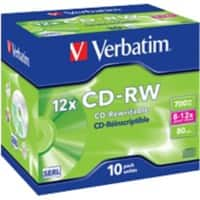 Verbatim CD-RW 700 MB Pack of 10