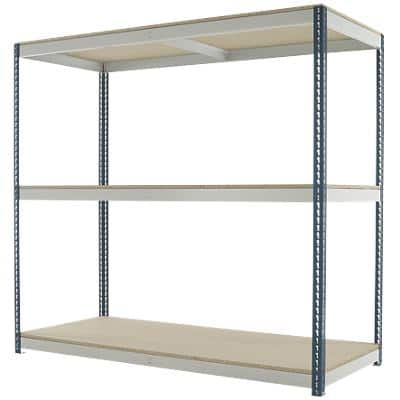 Kwik Rak Shelving Unit with 3 Shelves SX028GXGU 2100 x 900 x 1980mm Dark Grey & Light Grey