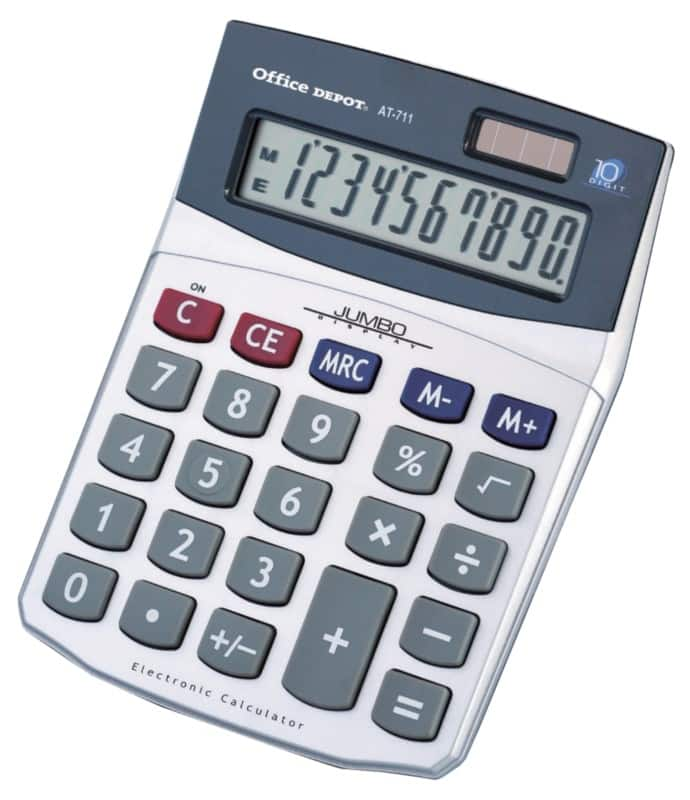 office depot desktop calculator at 711 silver viking direct uk