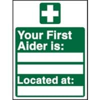 First Aid Sign First Aiders Plastic 20 x 15 cm
