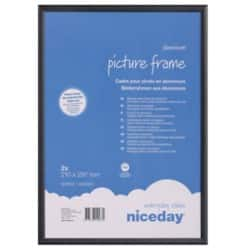 Niceday Aluminium Frame Black 297 H x 210 W mm 2 Per Pack