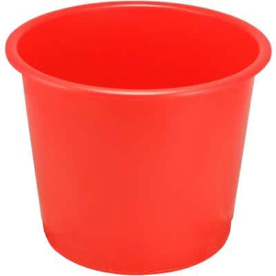 Plastic waste bins red