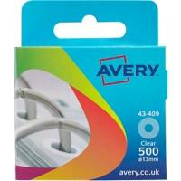 AVERY Reinforcement Rings Transparent Ø 13 mm 500 Pieces