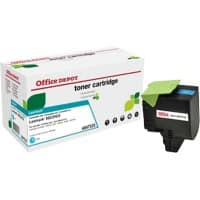 Compatible Office Depot Lexmark 802HC Toner Cartridge Cyan