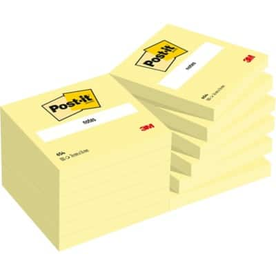 Post-it Notes Canary Yellow 76 x 76 mm 10 Pads of 100 Sheets