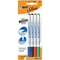 BIC Velleda 1721 Whiteboard Marker Fine Bullet Assorted Pack of 4