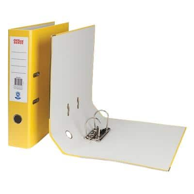 Office Depot Lever Arch File Yellow Foolscap 75 mm
