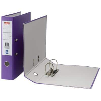 Office Depot Lever Arch Purple File Foolscap 75 mm
