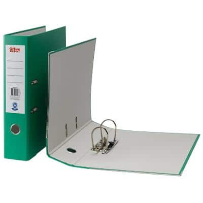 Office Depot Lever Arch File Green Foolscap 75 mm