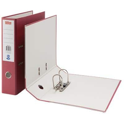 Office Depot Lever Arch File A4+ Burgundy Foolscap 75 mm