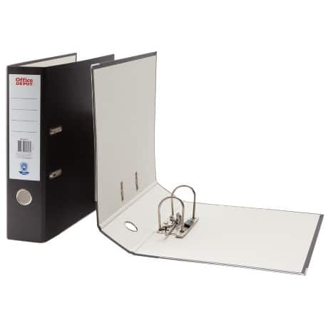 Office Depot Lever Arch File A4 2 ring 75 mm Black