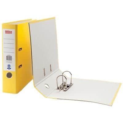 Office Depot Lever Arch File Yellow A4 75 mm