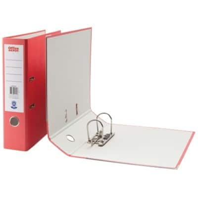 Office Depot Lever Arch File Red A4 2 Ring Paper on Board 75 mm Spine